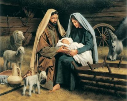 Joseph and Mary the baby! Christmas