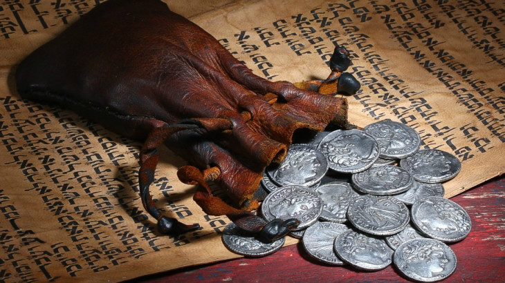 Judas payment holy week30-Pieces-of-Silver-cropped2-730x410